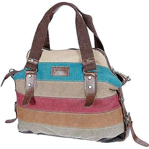 bolsos para el dia de la madre Lictin Multicolor Rayado La Lona Para Mujeres del Monedero con Multicolor Rayas La lona de Los Totalizadores del Bolso Tote
