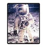 DongMen Kundenspezifische Astronaut Bild Fleece Soft Blanket 102cm x127cm
