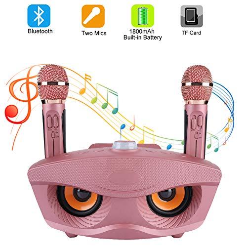 Ashata Maquina De Karaoke Karaoke Machine Portatil Para Equipo Para Fiestas Altavoz Inalambrica Bluetooth Con 2 Microfonos Para Party Home Ktv Etc