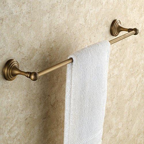Lhbox tap antiquariato leva singola in ottone pieno-salviette asciugamani da bagno asciugamani, leva singola (70cm)