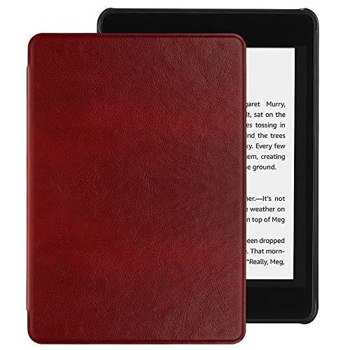 EasyAcc Hülle für Kindle Paperwhite 2018 10. Generation, Ultra Dünn Smartshell Case mit Auto Sleep/Wake up Funktion Kompatibel für Modelle der Kindle Paperwhite (10. Generation – 2018) - Weinrot