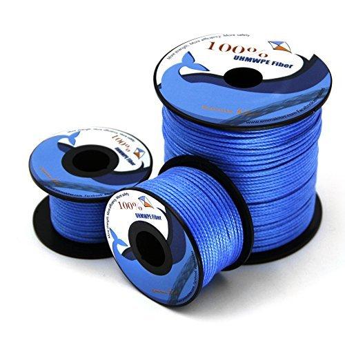 emma kites 1000lb 31 Meter Drachen Schnur String Blau UHMWPE Hohe Modul Polyethylen Drachen Fliegen Angeln Allgemeine Outdoor-Einsatzzweck - Hohe Festigkeit gegen Feuchtigkeit, UV, Abrieb