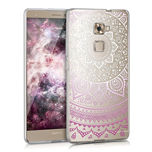 kwmobile Huawei Mate S Hülle - Handyhülle für Huawei Mate S - Handy Case in Violett Weiß Transparent