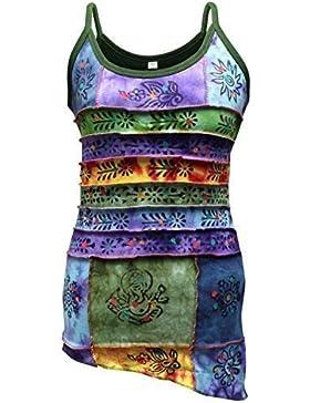 Shopoholic De Moda Para Dama Tradicionales Símbolos Con Parche Hippy Camiseta De Tirantes