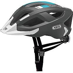 ABUS Aduro U-GRIP 2.0–Casco para bicicleta, todo el año, unisex, color race grey, tamaño 52-58 cm