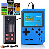 Kiztoys Retro Games Console, Portable Gameboy with 400 Classical Games & 2.8-Inch Color Screen for 2 Players Support TV Handheld Games Consoles Play 5 Hours+ for Kids Adults