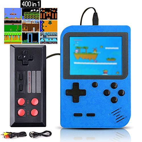 Kiztoys Console de Jeu Portable,Console de Jeu Retro FC,avec 400 Jeux FC Classiques,Écran Couleur de 2,8 Pouces,Prend en Charge la Connexion de la Connexion TV Chargement USB,pour Les Enfants,Adults.