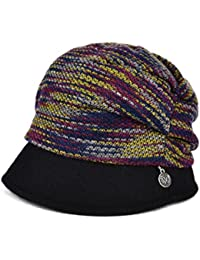 Womens lujo Mezcla de Lana Gorro de invierno Repartidor de prensa boina tejida Beanie Hat amarillo