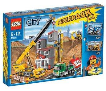 Preisvergleich Produktbild LEGO CITY 66331 SUPERPACK 5in1 Baustelle 7633 + 7990 + 7630