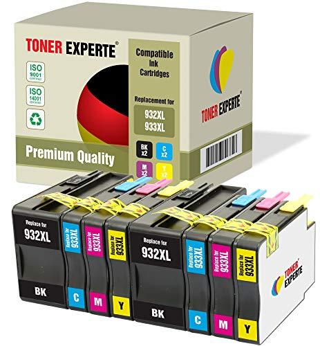 Druckerpatronen kompatibel für HP 932 XL 933 XL 932XL 933XL Officejet 6600 6700 7110 7610 7612 7620 6100 7510 7600 (2 Schwarz, 2 Cyan, 2 Magenta, 2 Gelb) ()