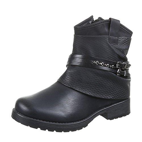 Chaussures pour femme 440–pa, bottines Noir - Noir