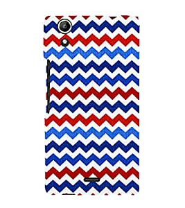 Wave Pattern Wallpaper 3D Hard Polycarbonate Designer Back Case Cover for Micromax Canvas Selfie 2 Q340