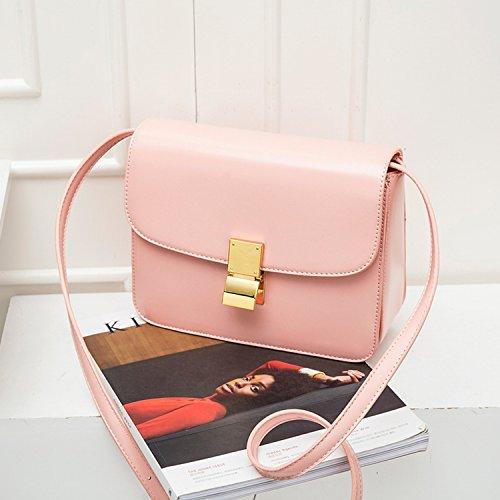 Weibliche Tasche Kuriertasche Mode Retro Tofu Tasche Einzigen Akkordeon Kleinen Quadratischen Tasche Rosa Groß