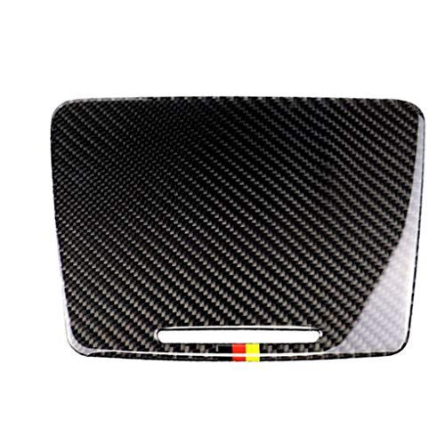 Uzinb Carbon-Faser-Wasser-Becherhalter-Panel-Abdeckung Trim Ersatz für Mercedes C-Klasse W205 C180 C200 GLC -