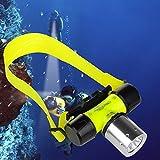 Grandorient Cree T6 Waterproof Diving Snorkelling Swimming Hiking Camping Hunting Fishing Headlamp Underwater 1800 Lumen Safety Head Light Torch Flashlight