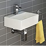 Square Pared de Cerámica lavabo grifo 1 agujero (sin grifo mezclador)