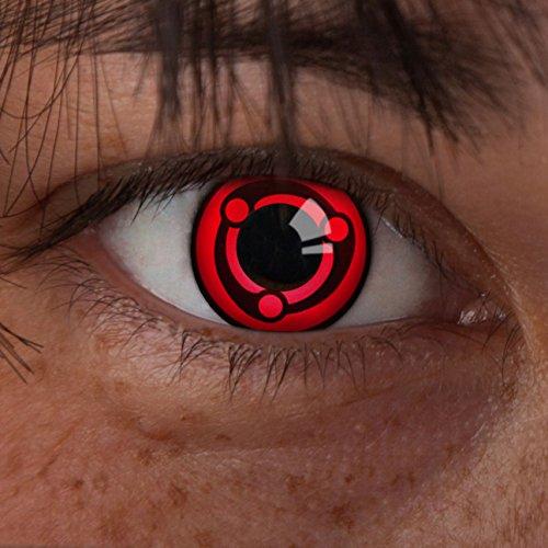 aricona Farblinsen | farbige Sharingan Kontaktlinsen ohne Stärke |bunte rote Manga Linsen für Naruto Cosplays| Madaras Mangekyou