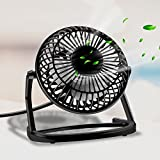 Ventilador USB, innislink mini fan Pequeño y Potente,Mini Ventilador de Mesa Para Hogar y Oficina mini Ventilador