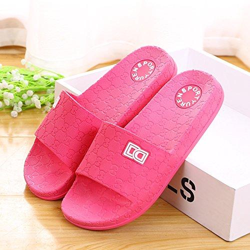 amanti delle pantofole a casa le pantofole, antiskid estate plastica spessa base,41 mei hong 40 prugna rosso