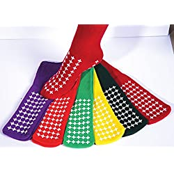 Amarillo doble banda de rodadura Slipper Calcetines, calcetines de Hospital, antideslizante, no derrapes, unisex (pequeño hasta Reino Unido tamaño 5,5)