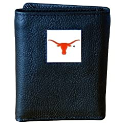 Texas Longhorns Genuine Leather Tri-fold Wallet