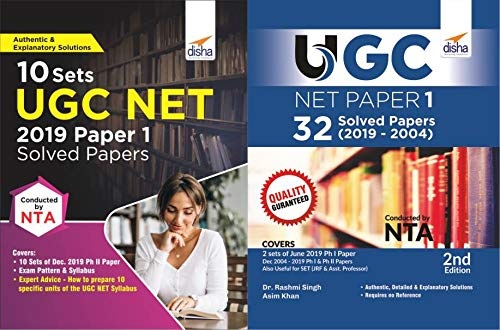 UGC NET Paper 1 - 40 Solved Papers (2019 to 2004) - Set of 2 Books