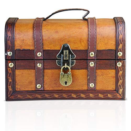 Brynnberg Caja de Madera William 22x14x14cm - Cofre del Tesoro Pirata