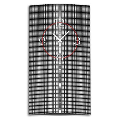 DIXTIME 3DS-0215 Horloge Murale Design Moderne et silencieuse Noir/Gris