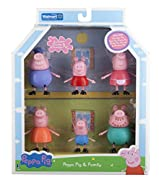 Peppa Pig 6 piece set includes exclusive Grandpa and Granny peppa figures
