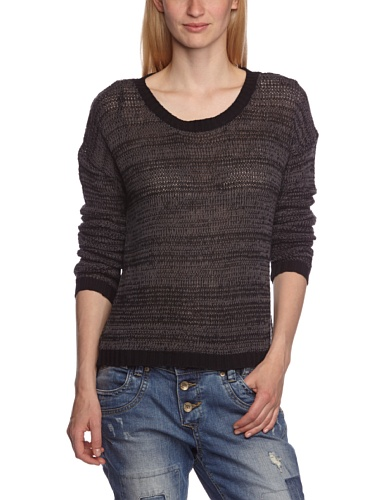 Bench Damen Pullover Pullover Sunray schwarz (Jet Black) Medium