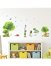 Solimo Wall Sticker for Home (Nature's stroll,  ideal size on wall ,  135 cm X 65 cm)