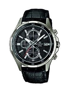 Reloj Casio EFR-531L-1AVUEF de cuarzo para hombre con correa de piel, color negro de Casio