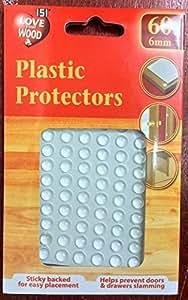 Coussin de Tampon Auto-adhésif en caoutchouc pour bouton de tiroir de meuble en verre, etc. 6 mm lot de 60pcs