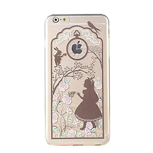 rinzessin Girl Transparent Colorful Flexibles Cover Ultra Slim Transluzent Apple iPhone Fall-Prinzessin in Braun ()