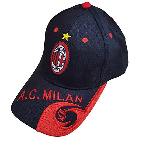 Club de fútbol AC Milan gorra de béisbol unisex, sombrero y metal Llavero colorido