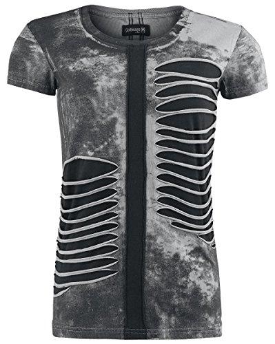 gothicana-by-emp-slashed-spray-wash-shirt-t-shirt-femme-noir-s