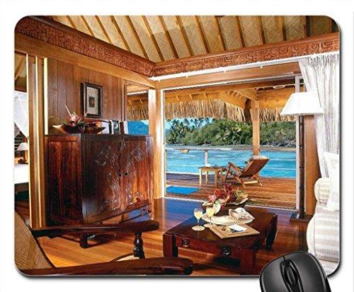 hilton-water-villa-bungalow-bora-bora-polynesia-mouse-pad-mousepad-beaches-mouse-pad