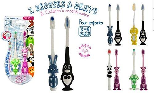 Preisvergleich Produktbild Zahnbürste, Doppelpack, für Kinder von 3-6 Jahren