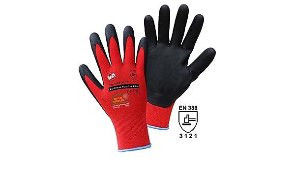 : 8 Handschuhe M EN 388 CAT II 1 P Unbekannt Griffy L+D Screen Touch PPU 1185 Nylon Arbeitshandschuh Gr/ö/ße