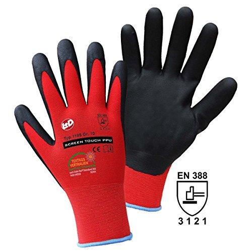 Griffy 1185 Feinstrickhandschuh Nylon-/Elasthangemisch mit PPU-Beschichtung Größe (Handschuhe): 8,