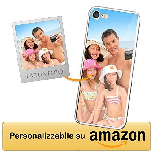 Cover personalizzata apple iphone 7 - apple iphone 8 - custodia morbida e trasparente - stampa di altissima qualità