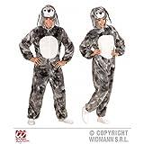 Overall Hase grau meliert / Bunny / plüschiger Jumpsuit mit Kapuze Gr. M ( H 165 cm ) / Erwachsenenkostüm / Tierkostüm / Ostern