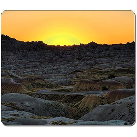 Sol VIGOR cojín de ratón grande Parque Nacional Badlands forma alargada Sunset Eco diseño de goma Dakota del Sur Natural Durable de Accesorios de Computadora juegos alfombrilla de ratón alfombrillas de ratón de regalo