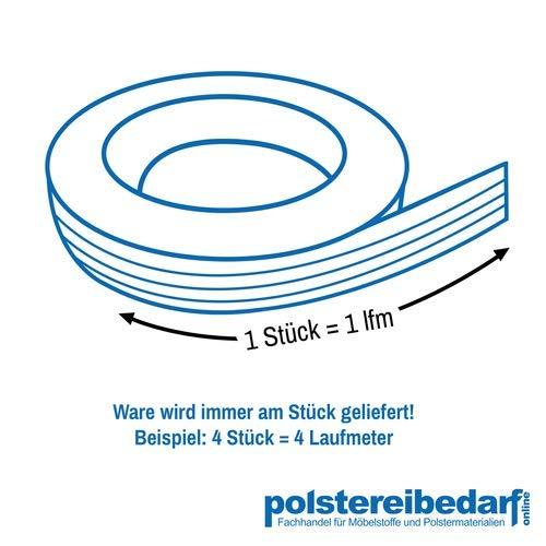 Polster Jute Gurte Fest Rot Meterware - 2