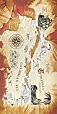 Caribbean Sea Karte Velours brasilianisches Strandtuch 76,2x 152,4cm