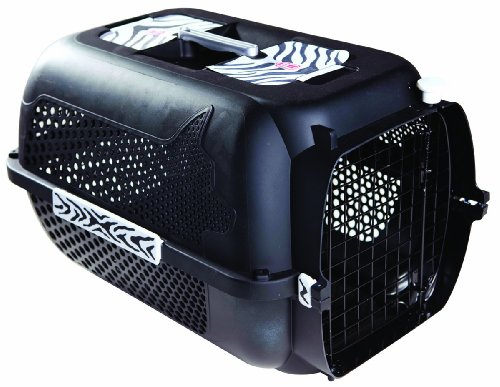 Catit/Dogit Voyageur - Transportín para Gatos/Perros, tamaño Mediano, 56 x 37 x 30 cm, diseño de Tigre Negro