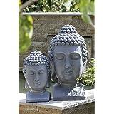 Prosperplast cabeza de Buda 60cm Gris Piedra de cabeza de Buda