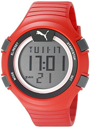 Puma unisex PU911281003Faas 100l rosso display digitale orologio