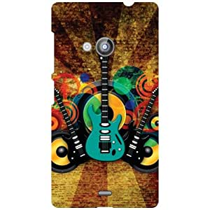 Nokia Lumia 535 Back Cover - Colored Guitars Designer Cases