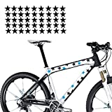 45-teiliges Sternen Aufkleber Set für das Bike Fahrrad Sticker Sterne Stars | S4B0089